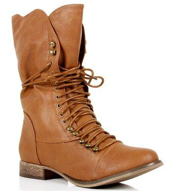 Tan Lace Up Oxford Boots