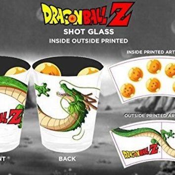 1.5oz Dragon Ball Z OFFICIAL White Shot Glass GIFT with Shenron T