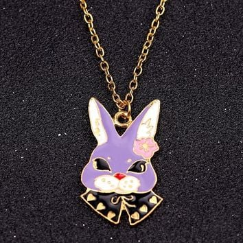 Alice in Wonderland Mr. White Rabbit Necklace Cute Cartoon kawaii Bunny Pendant Necklaces For Women Girls Fashion jewelry Gifts