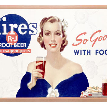 Hires Root Beer Ad Fine Art Print