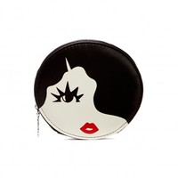 Black and White Marcel Wave Coin Purse | All Purses | Purses | Lulu Guinness