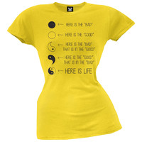 Yin Yang Life Juniors T-Shirt