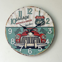 Vintage Quiet Weathered Wall Sticker Clock [6451856838]