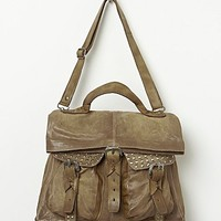 A.S. 98. Womens Deacon Leather Tote - Grey One
