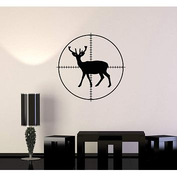 Vinyl Wall Decal Hunting Deer Silhouette Target Hunter Decor Art Stickers Mural (ig5578)