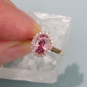 Image result for oval padparadscha sapphire rose gold