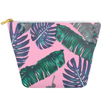 Pink and Palms Cosmetic Bag