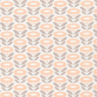 Lazy Daisy Coral  - Organic Cotton - Morning Song Collection (5208.52.00.90)