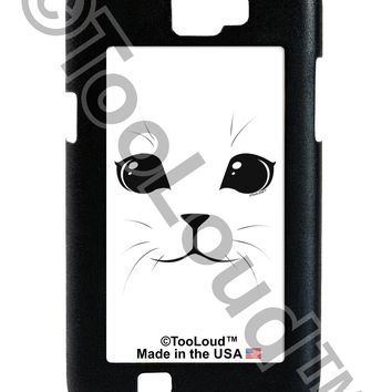 Cute Cat Face Galaxy Note 2 Case  by TooLoud