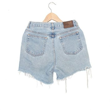 Vintage Distressed High Waisted Calvin Klein Denim Shorts