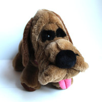 PICK of the LITTER Plush Dog, Vintage 1986 Stuffed Brown Dog, vintage plush dog, vintage stuffed animal, vintage stuffed toy, Ambiance brand