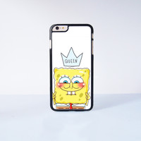 Spongebob Queen Plastic Case Cover for Apple iPhone 6S Plus  6S 6 6 Plus 4 4s 5 5s 5c