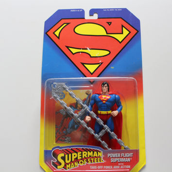 Vintage Power Flight Superman Action Figure Toy 1995 NIB