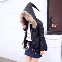 Fur Edged Witch Hood Coat