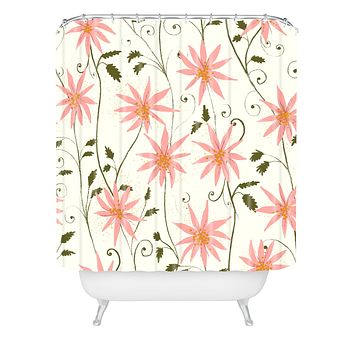 Joy Laforme Folklore Floral Shower Curtain