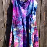 Forever 21 Hand Ice Dyed Summer Dress - Size Small - Nontraditional Tie Dye Art