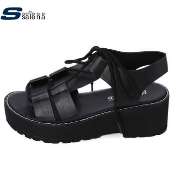 Women Sandals New Arrival Peep Toe Platform Sandals Women All Match Casual Shoes A761