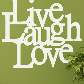 Live Laugh Love Wall Decal Vinyl Sticker #6010