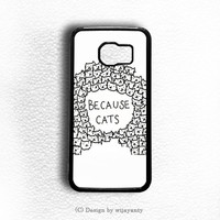 BECAUSE CATS Samsung Galaxy S7 Edge Case Wijayanty.com