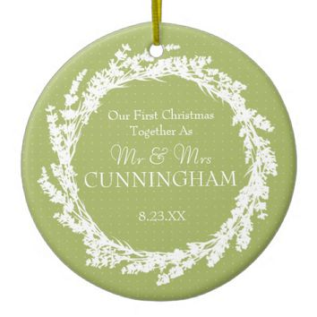 Personalize Christmas Wedding Ornament