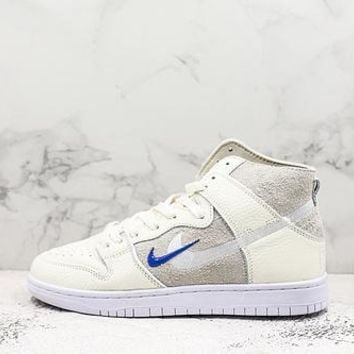 Soulland X Nike Sb Dunk High Sail/game Royal-white - Best Deal Online