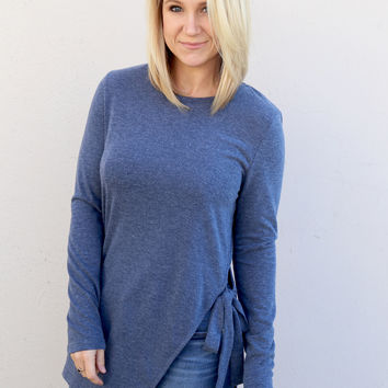 Side By Side Bow Top {Blue}
