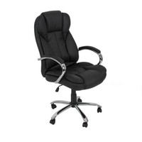 PU Leather High Back Executive Office Task Chair w/ Metal Base for Computer Desk - Walmart.com
