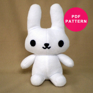 Plush Bunny Rabbit PDF - Toy Sewing Pattern