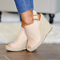 *  Bella Marie Wedge Sandal: Beige