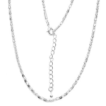 ON SALE - 30 inch Diamond Shaped Ribbon Link Stainless Steel Chain