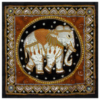 Burmese Elephant Tapestry Wall Hanging