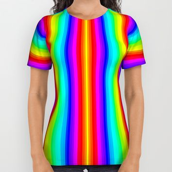 Rainbow Line #society6 All Over Print Shirt by Azima