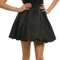 2014 Prom Dresses - Black Pleated Perfection Strapless Cocktail Dress