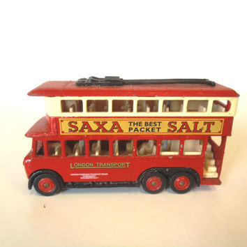 Collectible Lledo Days Gone Die-Cast Vintage Bus Saxa Packet Salt Model DG 41 -49