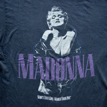 Vintage 80's Madonna Who's That Girl World Tour 1987 T Shirt