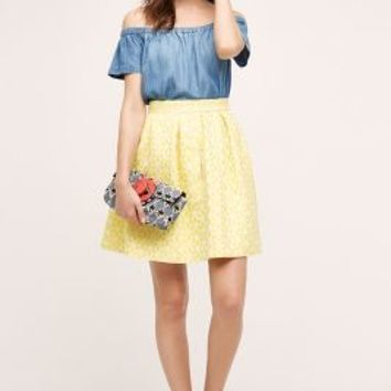 Hutch Lemon Zest Mini Skirt in Yellow Size: