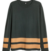 Printed Long-sleeved T-shirt - from H&M