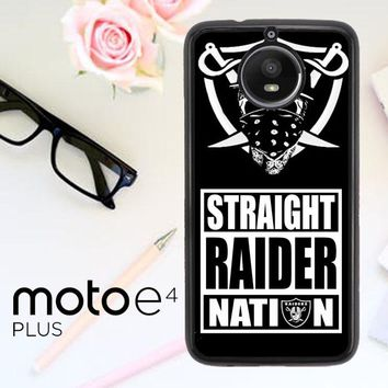 Oakland Raiders W4883 Motorola Moto E4 Plus Case