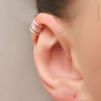 $5.95 No Pierce Ear Cuff for the Upper Ear silver plated by KOZLOVA