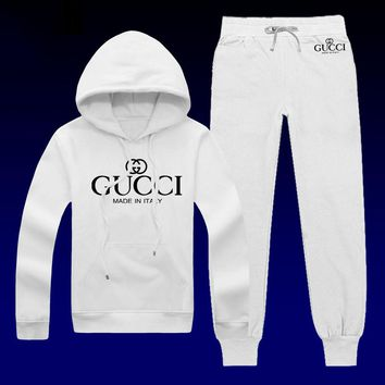 Boys & Men Gucci Top Sweater Pullover Hoodie Pants Trousers Set Two-Piece