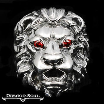 GLADIATOR KING LION RING - SZ-10 - STERLING SILVER - NEW - DRAGON SOUL JEWELRY