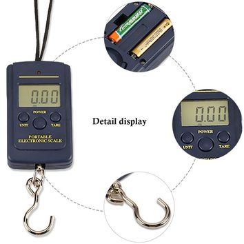Multifunctional Portable Mini 40kg/10g Electronic Hanging Fishing Luggage Balanca Digital Handy Pocket Weight Pesca Hook Scale