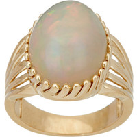 Ethiopian Opal Bold Cocktail Ring 14K Gold — QVC.com