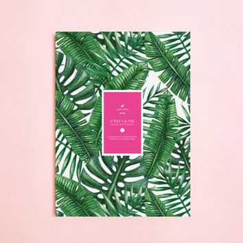 Summer PALM TREE Lined NOTEBOOK | Writing Journal-Notebook for Writers Gift-Daily Planner-Large Notebook-The Notebook-Back To School-Boho