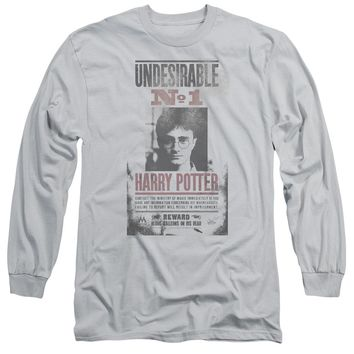 Harry Potter - Undesirable No1 Distressed Long Sleeve Adult 18/1 Officially Licensed Shirt