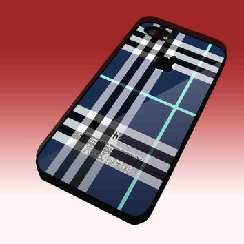 Blue Burberry, Patterns Apple Design Hard Plastic Case for iPhone 4/4S, iPhone 5, Samsung Galaxy S3 i9300, Samsung Galaxy S4 i9500