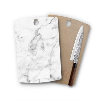 Classic White Marble Rectangle Cutting Board Trendy Unique Home Decor Cheese Board