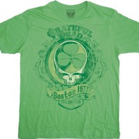 The Grateful Dead Boston Concert 1977 Green T-shirt (X-Large)