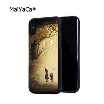 Over the Garden Wall soft silicone edge skin cell phone cases for iphone x 5s se 6 6s 6plus 7 7plus 8 8plus cover case