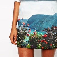 Paul by Paul Smith Photo Mini Skirt